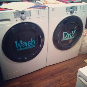So cute! Makes me want to get a new washer & drier so I can have this.