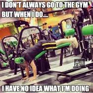How I feel at the gym